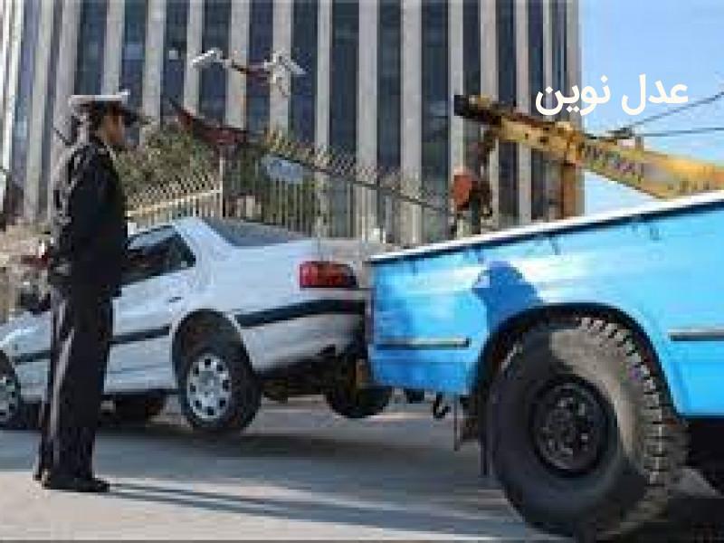 در چه صورتی حمل خودروی متخلف توسط جرثقیل راهور به پارکینگ مجاز نمی باشد